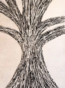 Tree on a cloudy day (48″ x 36″)